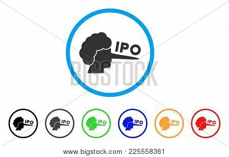 Ipo Lier Icon. Vector Illustration Style Is A Flat Iconic Ipo Lier Black Symbol With Gray, Yellow, G