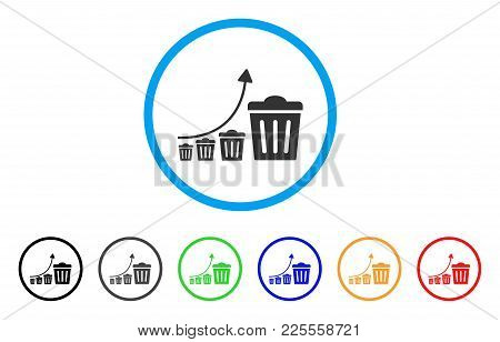 Trash Growing Trend Icon. Vector Illustration Style Is A Flat Iconic Trash Growing Trend Black Symbo