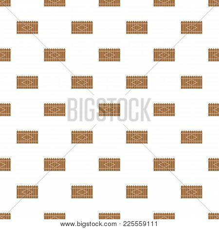 Wooden Peak Fence Pattern Seamless In Flat Style For Any Design