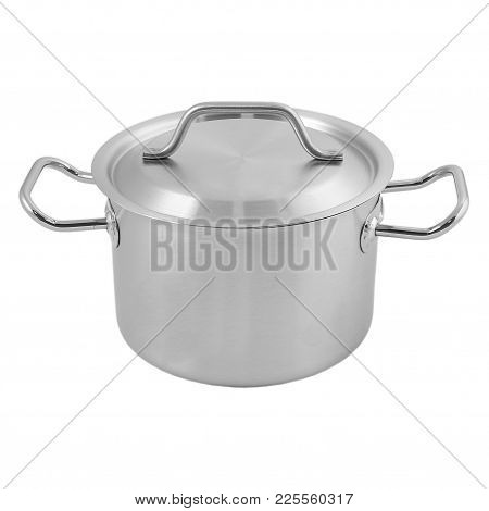 Pan Cap Stainless Steel Cook Goods For The Kitchen Cook Borsch To Cook Soup Metal