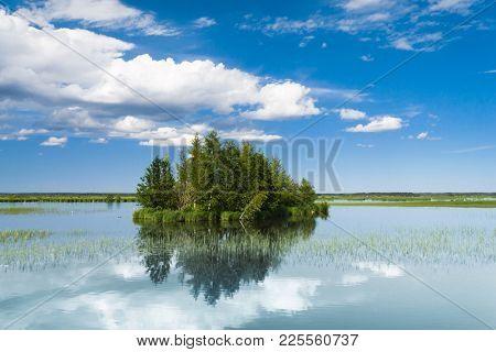 Green Island Cloudscape Above