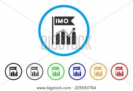 Imo Chart Trend Icon. Vector Illustration Style Is A Flat Iconic Imo Chart Trend Black Symbol With G