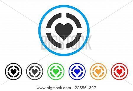 Casino Hearts Suit Icon. Vector Illustration Style Is A Flat Iconic Casino Hearts Suit Black Symbol