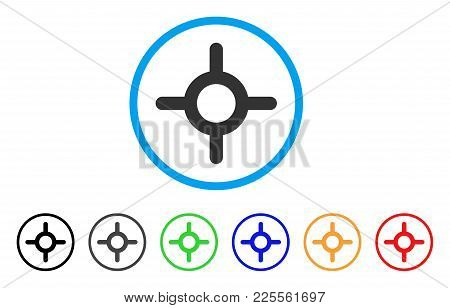 Roulette Icon. Vector Illustration Style Is A Flat Iconic Roulette Black Symbol With Grey, Yellow, G