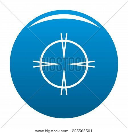 Focal Target Icon Vector Blue Circle Isolated On White Background