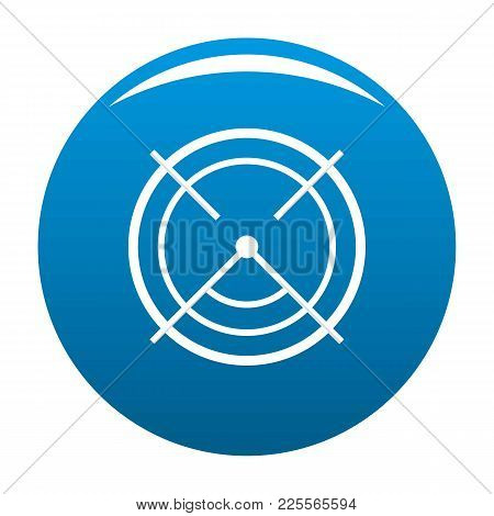 Aim Radar Icon Vector Blue Circle Isolated On White Background