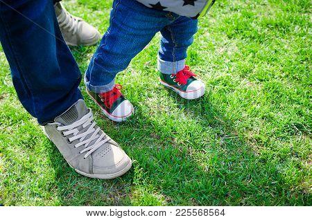 Walking Toddler Concept