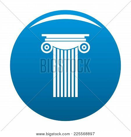 Reinforced Concrete Column Icon Vector Blue Circle Isolated On White Background