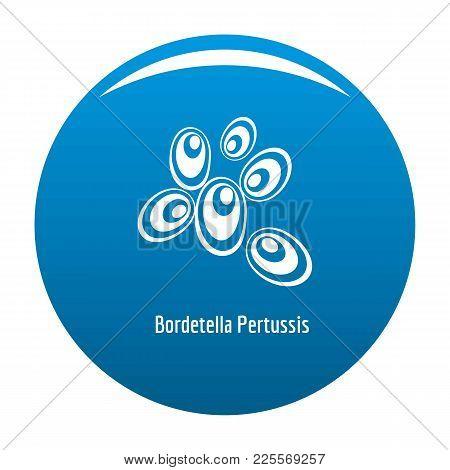 Bordetella Pertussis Icon Vector Blue Circle Isolated On White Background