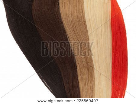 Picture Of Remy Woman's Hair Extensions In Different Colors