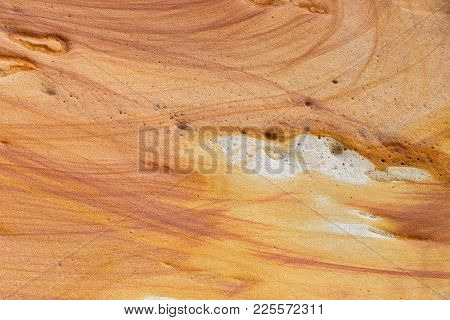 Natural Sand Stone Texture And Background, Abstract Pattern On A Rock