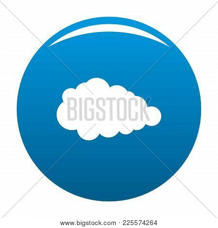 Overcast Icon Vector Blue Circle Isolated On White Background