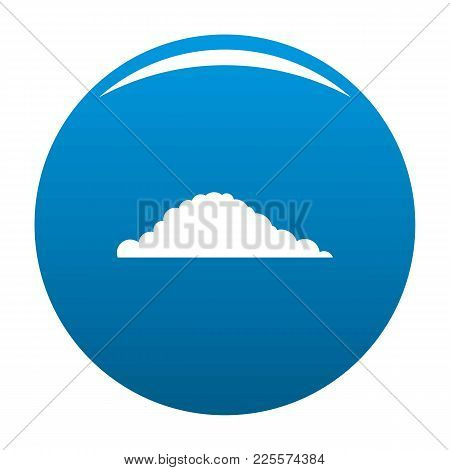 Cloudy Icon Vector Blue Circle Isolated On White Background