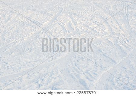 Pure Snow Background Texture, Cold Winter Time