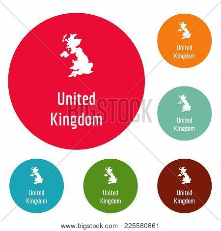United Kingdom Map In Black. Simple Illustration Of United Kingdom Map Vector Isolated On White Back