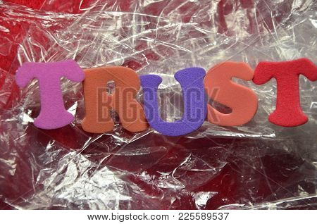 Word Trust On Ann   Abstract Colored Background