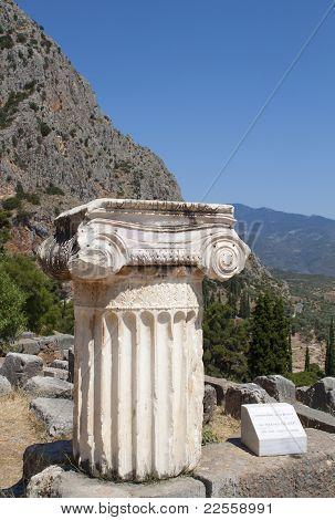 Single ionic order capital at Delphi