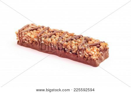 Chocolate Protein Bar Studio Isolated On White