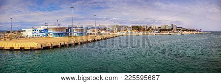 Sochi, Russia - April 29, 2015: Marina Of The Maritime Station.