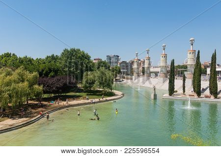 Barcelona, Spain - September 2: Park Of Industrial Spain In Barcelona. The Park Was Built In 1985 On