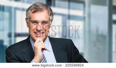 Senior manager smiling