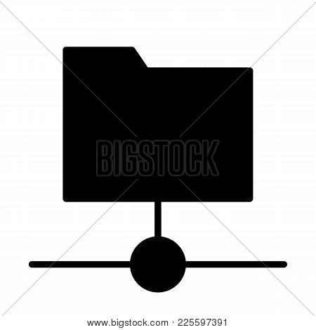 Shared Folder Icon.  96x96 For Web Graphics And Apps.  Simple Minimal Pictogram. Vector