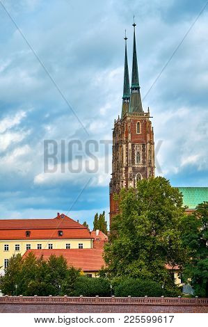 The Cathedral Of St. John The Baptist In Wroclaw Is The Seat Of The Roman Catholic Archdiocese Of Wr