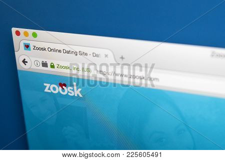 London, Uk - August 7th 2017: The Homepage Of The Website For Zoosk, The Online Dating Service, On 7