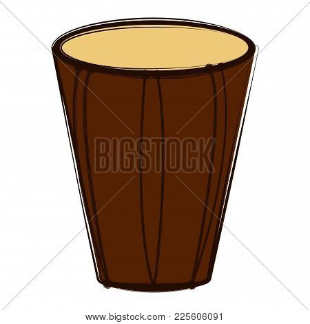 Sketch Of A Bass Drum. Musical Instrument. Vector Illustration Design