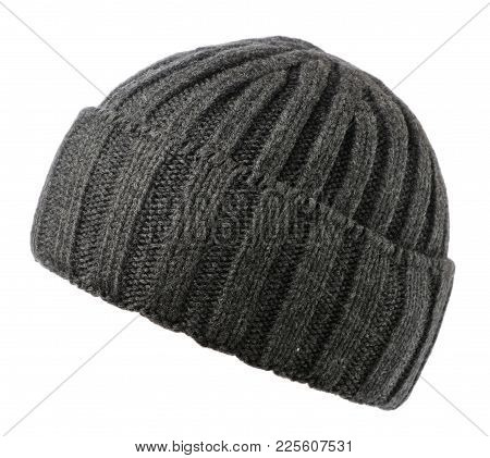 Hat Isolated On White Background .knitted Hat .