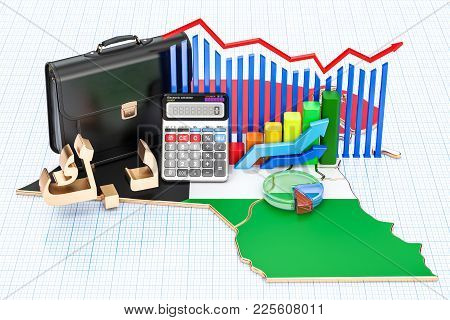 Business, Commerce And Finance In Kuwait Concept, 3d Rendering