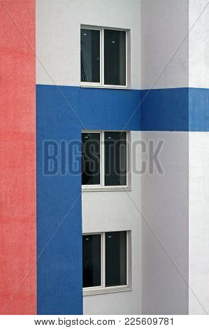 Modern Residential Building In The Prestigious District. Vertical Photo