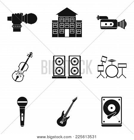 Stage Performance Icons Set. Isometric Set Of 9 Stage Performance Vector Icons For Web Isolated On W