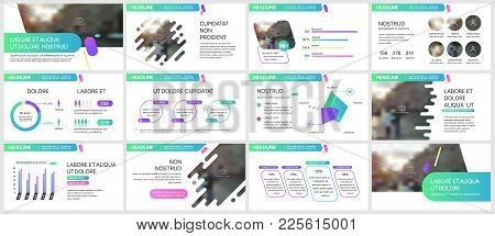 Green-blue Presentation Templates Elements On A White Background. Vector Infographics. Use In Presen