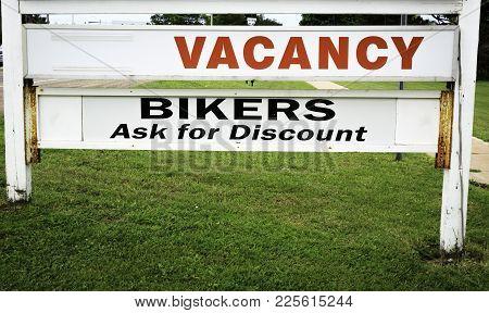 Summerside, Canada - June 28, 2017: Motel Vacancy Sign In Beautiful Summerside, Pei. Prince Edward I