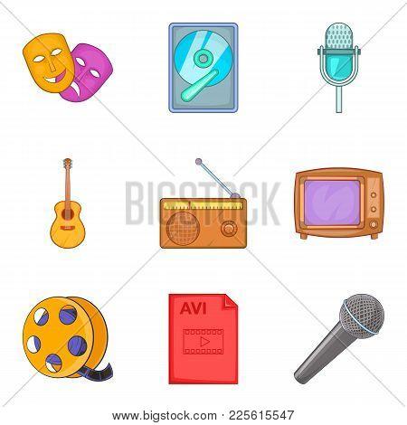 Musical Arrangement Icons Set. Cartoon Set Of 9 Musical Arrangement Vector Icons For Web Isolated On
