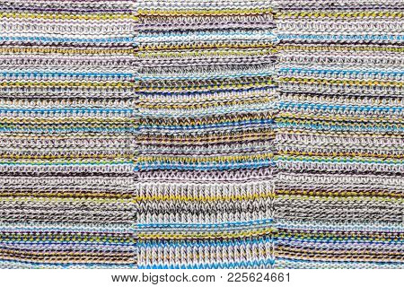 Colorful knitted fabric textured background