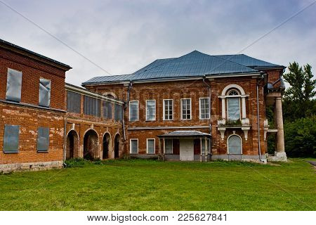 2844817 Abandoned And Overgrown Former Nechaev's Mansion In Polibino Village