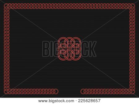 Linked Rings Frame Vector Illustration (separate Elements For Easy Editing)