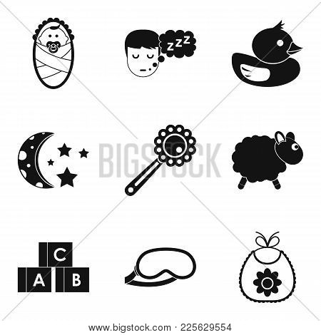 Incubator Icons Set. Simple Set Of 9 Incubator Vector Icons For Web Isolated On White Background