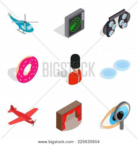 Occupation Icons Set. Isometric Set Of 9 Occupation Vector Icons For Web Isolated On White Backgroun