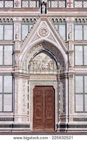 Entrance Of The Holy Cross Basilica (santa Croce) - Florence, Tuscany, Italy