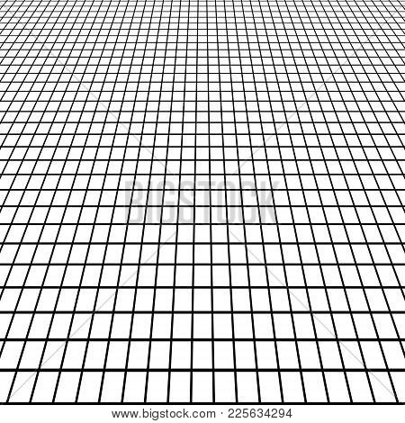 Perspective Grid View At An Angle, Background White Floor Tile Grid View From A Man