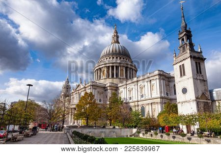 LONDON, UK - OCTOBER 30, 2012: St Paul's Cathedral, one of the most famous and recognisable sights of London