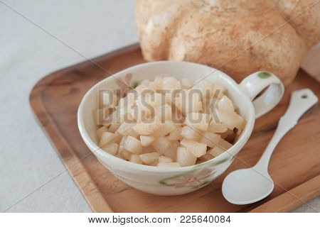 Jicama Apple Filling For Pastry , Low Carbs, Ketogenic Food