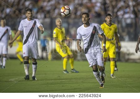 Rio, Brazil - February 07, 2018: Evander  Player In Match Between Vasco And Universidad De Concepcio