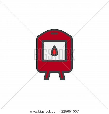 Blood Transfusion Filled Outline Icon, Line Vector Sign, Linear Colorful Pictogram Isolated On White