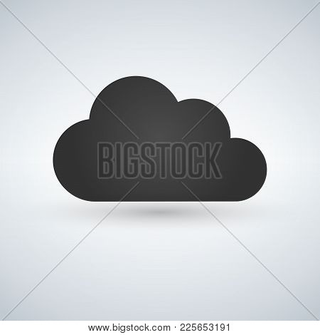 Cloud Computing Icon Vector. Server, Network, Technology, Data Center Concept. Isolated On White Bac