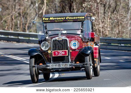 Adelaide, Australia - September 25, 2016: Vintage 1928 Chevrolet National Utility (ute) Driving On C