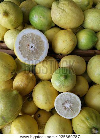 Lemon fruit background